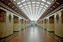 St petersburg metro station Royalty Free Stock Photo
