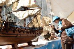 St Petersburg międzynarodowy morski festiwal 2015 Zdjęcia Royalty Free