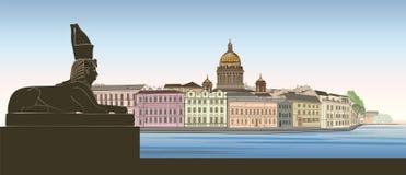 St Petersburg miasto, Rosja Świętego Isaac ` s linii horyzontu katedralny dowcip royalty ilustracja