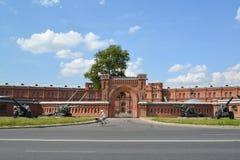 St Petersburg Militärt och historiskt museum av artilleri som är engelskt royaltyfri fotografi