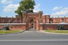 St Petersburg Militärt och historiskt museum av artilleri som är engelskt arkivfoton