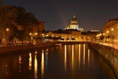 St Petersburg Moika flod Royaltyfria Bilder