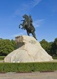 St Petersburg monument som görar till kung Peter mig Arkivfoton