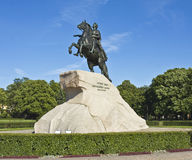 St. Petersburg, monument to king Peter I Stock Image