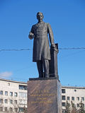 St. Petersburg. Monument to A.S.Popov (1859-1906), to the invent Stock Photo