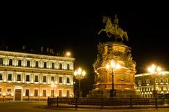 St Petersburg, monumento del Nikolai I dell'imperatore Immagini Stock Libere da Diritti