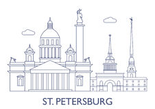 St.Petersburg, The most famous buildings of the city Royalty Free Stock Photo