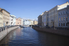 St Petersburg, Moyka Fluss. Lizenzfreie Stockfotografie