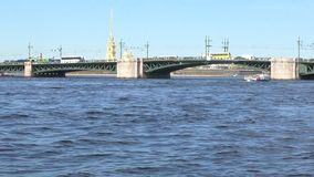 St petersburg neva river. Pleasure craft on the river. Slow motion from a pleasure boat. St petersburg neva river. Pleasure craft on the river. Slow motion from stock video