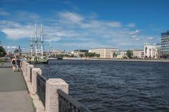 St Petersburg Neva rzeka Zdjęcie Stock