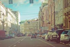 St. Petersburg, Nevsky Prospekt Stock Afbeelding