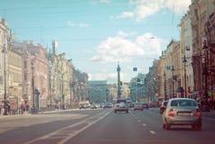 St. Petersburg, Nevsky Prospekt Royalty-vrije Stock Afbeelding