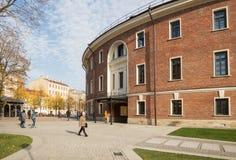 St.Petersburg, New Holland, former prison building. ST. PETERSBURG, RUSSIA - OCTOBER 16, 2018: New Holland. In building of former prison `Bottle` after stock image