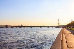 St. Petersburg next to the Neva Stock Image