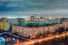 St. Petersburg at night Stock Images