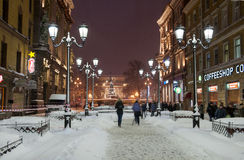 St Petersburg in night. Stock Photos