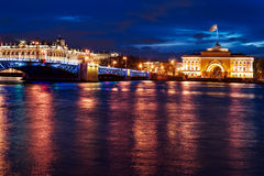 St. Petersburg nightview Royalty Free Stock Photos