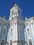 St. Petersburg. Nikolsky's fragment of a sea cathedral Royalty Free Stock Photo