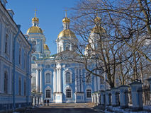 St. Petersburg.  Nikolsky sea cathedral Stock Images