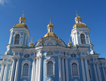 St. Petersburg. Nikolsky a sea cathedral against the sky Royalty Free Stock Images