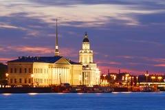 St. Petersburg noc widok obrazy stock