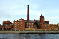 St. Petersburg, the old factory buildings Royalty Free Stock Photos