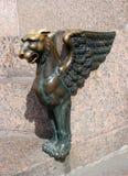 St Petersburg, oskrzydlony lew Obraz Royalty Free