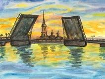 St. Petersburg, Painting Royalty Free Stock Image