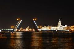 St. Petersburg Palace Bridge Royalty Free Stock Photo