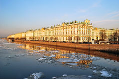St. Petersburg. Palace Embankment at dusk Stock Photography