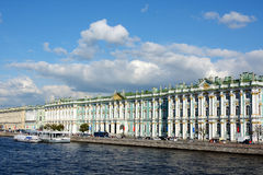 St. Petersburg, Palace embankment and the Winter Palace Royalty Free Stock Photo