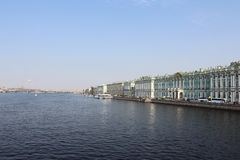 St. Petersburg panorama of the city with the winter Palace royalty free stock images