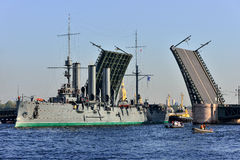 St Petersburg Paso del crucero Imagen de archivo libre de regalías