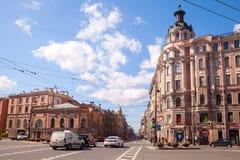 St.Petersburg, perspective of Bolshoy Prospekt Stock Photo