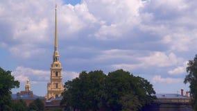 St Petersburg, Peter et forteresse de Paul banque de vidéos