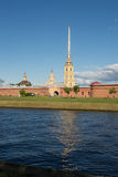 St. Petersburg. Peter and Paul Fortress on the Neva River. Stock Photo