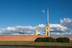 St. Petersburg. Peter and Paul Fortress on the Neva River. Royalty Free Stock Images