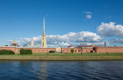St. Petersburg. Peter and Paul Fortress on the Neva River. Stock Image