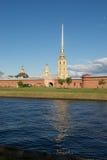 St Petersburg Peter und Paul Fortress auf Neva River Stockfoto
