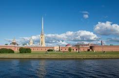 St Petersburg Peter und Paul Fortress auf Neva River Stockbild