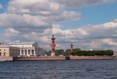 St Petersburg. Pfeil von Vasilevsky Insel. Lizenzfreies Stockbild
