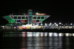 The St. Petersburg Pier at Christmas Stock Images