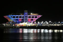 The St. Petersburg Pier at Christmas Stock Photography
