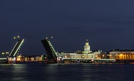 St Petersburg, a ponte do palácio Foto de Stock