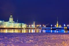 St Petersburg por la tarde Imagen de archivo