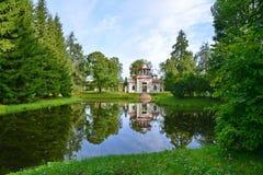 St Petersburg Pushkin, Catherine Park Royaltyfri Foto