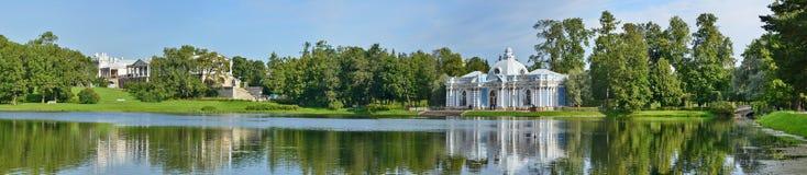 St Petersburg Pushkin, Catherine park Royaltyfri Bild