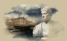 St Petersburg, río de Fontanka Imagen de archivo libre de regalías