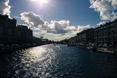 St Petersburg, río de Neva Imagen de archivo libre de regalías