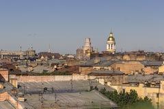 29 06 2017, St Petersburg, Rússia Amanhecer na perspectiva de Nevsky Imagem de Stock